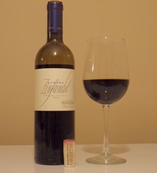 Seghesio Zinfandel Glass And Bottle