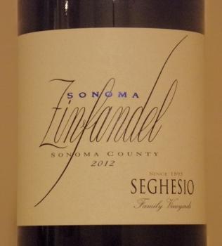 Seghesio Sonoma Zinfandel Front Label
