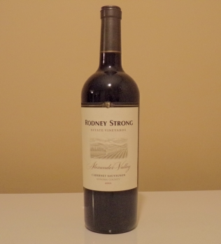 Rodney Strong Alexander Valley Estate Cabernet Bottle