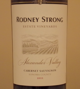 Rodney Strong Alexander Valley Estate Cabernet Front Label