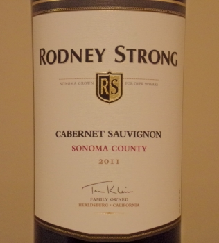 Rodney Strong Sonoma County Cabernet Front Label