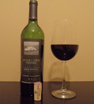 Sterling Napa Valley Cabernet Glass And Bottle