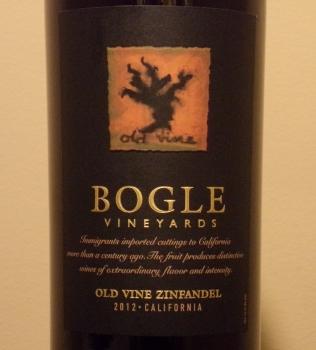 Bogle Old Vine Zinfandel  Front Label