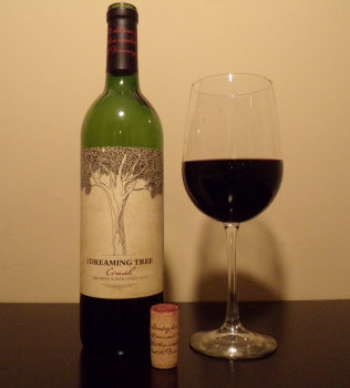 Dreaming Tree Crush Red Blend Bottle And Glass
