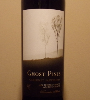 Ghost Pines Cabernet Front Label