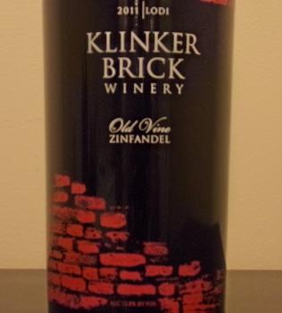 Klinker Brick Old Vine Zinfandel Front Label