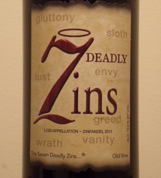 Michael David 7 Deadly Zins Front Label